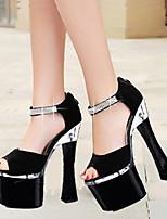 Women's Sandals Spring Summer Comfort Novelty PU Wedding Party & Evening Dress Stiletto Heel Crystal Buckle Walking