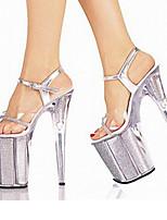 Women's Sandals Summer Fall Club Shoes Comfort Novelty PVC Wedding Outdoor Party & Evening Dress Casual Stiletto Heel Buckle Walking