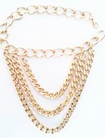 alliage d'or des bijoux de cheville de 1pc des femmes