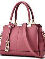 Women Bags All Seasons PU Tote with Rivet for Event/Party Formal Office & Career Black Blushing Pink Gray Purple Wine