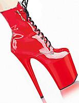 Feminino-Botas-Conforto Inovador Sapatos clube-Salto Agulha-Fúcsia Vermelho-Couro Ecológico-Ar-Livre Social Casual Festas & Noite