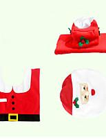Christmas Originality Three-piece Toilet Santa Claus Device