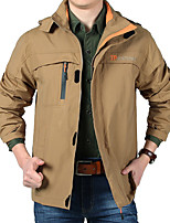 Hiking Softshell Jacket Men's Waterproof / Breathable / Thermal / Warm / Windproof / Wearable Spring / Summer / Fall/