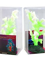 Aquarium Decoration Artificial Coral Noctilucent Resin Random Color 3pcs