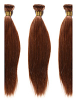 1PC TRES JOLIE Remy Yaki 10-20Inch Color #30  Medium Auburn Human Hair Weaves