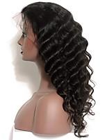 Onda solta 120% densidade de renda perucas de cabelo humano dianteiro para mulheres negras cabelo virgem mongol com cabelo de bebê