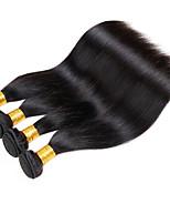 Tissages de cheveux humains Cheveux Mongoliens Droit 12 mois 4 Pièces tissages de cheveux