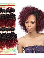 Curly Flechten Locken Afrikanische Locken Häkeln mit menschlichem HaarSchwarz Schwarz / Strawberry Blonde Schwarz / Medium Auburn Schwarz