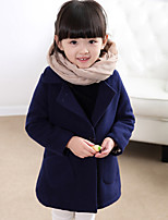 Girl's Casual/Daily Solid Down & Cotton Padded / Suit & BlazerWool / Polyester Winter Blue / Red
