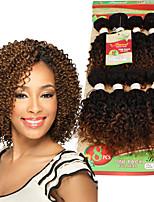 Tresses bouclés Bouclé Crochet Tricots aux cheveux humains Noir Noir / Blond Fraise Noir / Medium Auburn Noir / BourgogneExtensions de