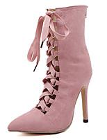 Women's Heels Summer Fall Comfort Novelty Suede Outdoor Party & Evening Dress Casual Stiletto Heel Zipper Walking