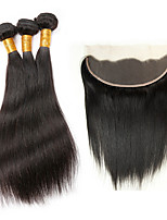 Natural Color Hair Weaves Brazilian Texture Straight 4 Pieces hair weaves