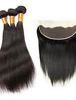 Cabelo Humano Ondulado Cabelo Brasileiro Retas 4 Peças tece cabelo