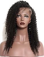 Dentelle avant perruques de cheveux humains pour les femmes noires avec les cheveux de bébé pré-enroulés la peau de la nature kinky