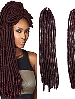 Faux Locs  MT1B/Burg Synthetic Hair Crochet Braids 18inch 90g Kanekalon