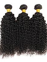 Tissages de cheveux humains Cheveux Péruviens Bouclé 6 Mois 3 Pièces tissages de cheveux