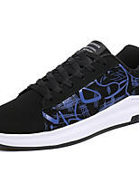 Sneakers Summer Fall Comfort Fabric Outdoor Athletic Casual Lace-up Black/Blue Black/Red Black and White