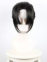 Perruques de Cosplay Cosplay Cosplay Noir Queue-de-cheval Manga Perruques de Cosplay 30 CM Fibre résistante à la chaleur