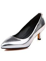 Femme-Habillé Décontracté-Or Argent Violet Rouge-Kitten Heel-Confort-Chaussures à Talons-Similicuir