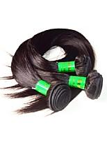 10a индийские виргинские волосы шелк прямые 3pundles 300g lot натуральный черный цвет 100% необработанные индийские человеческие волосы