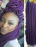 Faux Locs Crochet Braids Twist Extensions fauxlocs hair African Braiding Kanekalon Soft Dread Locks 24roots/pack synthetic hair braiding