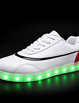 Women's Sneakers Spring Summer Light Up Shoes Comfort Luminous Shoe Patent Leather Casual Flat Heel LED Lace-up