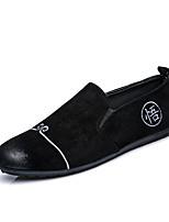 Men's Loafers & Slip-Ons Spring Summer Comfort Suede Wedding Office & Career Party & Evening Flat Heel Khaki Gray Black