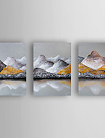 Handgemalte Abstrakte Landschaft Horizontal,Modern Drei Paneele Leinwand Hang-Ölgemälde For Haus Dekoration