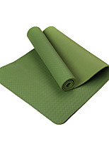 TPE Йога коврики Экологию Без запаха 4.0 мм Зеленый Other