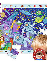 Jigsaw Puzzles Educational Toy Building Blocks DIY Toys 1 Wood Rainbow Leisure Hobby