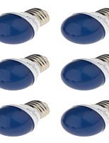 3W E27 Lâmpada Redonda LED G45 6 SMD 2835 250 lm Vermelho Azul Amarelo Verde Decorativa AC220 V 6 pçs
