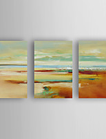 Hand-Painted  Abstract Landscape Set of 3 Canvas Oil Painting With Stretcher For Home Decoration Ready to Hang