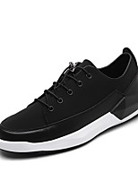 Men's Sneakers Spring Fall Comfort PU Outdoor Casual Lace-up Black