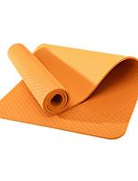 TPE Йога коврики Экологию Без запаха 6 мм Розовый Зеленый Оранжевый Фиолетовый Небесно-голубой Other