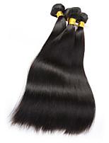 Cabelo Humano Ondulado Cabelo Brasileiro Retas 6 meses 3 Peças tece cabelo