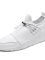 Men's Sneakers Spring Summer Comfort Fabric Leatherette Outdoor Athletic Casual Flat Heel Gore Gray Black White