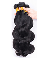 Menschenhaar spinnt Malaysisches Haar Große Wellen 12 Monate 5 Stück Haar webt