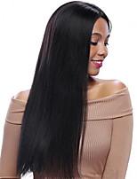 Vente chaude naturelle remy droite humaine vierge cheveux perruque avant en dentelle pour femmes noires