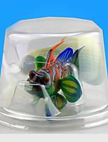 Aquarium Decoration Artificial Fish Noctilucent Resin Random Colors 3pcs