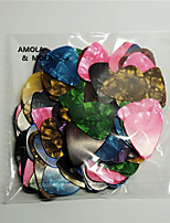 AMOLA 100pcs Acoustic Electric Guitar Celluloid Picks Plectrum Multicolor Thickness 0.46mm Instruments Parts Accessories