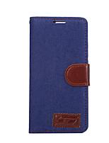 Pour Porte Carte Avec Support Clapet Coque Coque Intégrale Coque Couleur Pleine Dur Cuir PU pour HuaweiHuawei P9 Huawei P9 plus Huawei P8