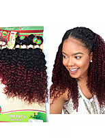 new arrival brazilian kinky curly hair 8pcs/pack afro jerry curly hair bundles 8-14inch two tone burgundy brown human hair weft