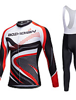 AOZHIDIAN Spring/Summer/Autumn Long Sleeve Cycling JerseyLong Bib Tights Ropa Ciclismo Cycling Clothing Suits #AZD099