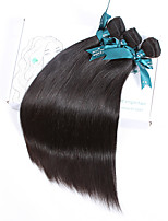 Natural Color Hair Weaves Brazilian Texture Straight 12 Months 3 Pieces hair weaves