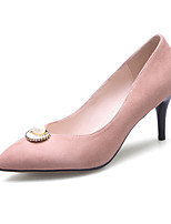 Heels Spring Summer Fall Club Shoes Fleece Office & Career Dress Casual Stiletto Heel Imitation Pearl