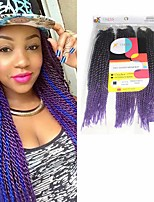 Senegal Twist  Purple Synthetic Hair Braids 18inch 20inch 22inch Kanekalon 81 Strands 200g  Multipal Pack for Full Heads