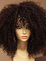 High Quality 8 to 22 inches 100% Brazilian Human Hair Wigs Kinky Curly Glueless Lace Front Wigs For Black Women