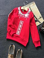 Tee-shirts / Pull à capuche & Sweatshirt Boy Imprimé Décontracté / Quotidien Coton Printemps / Automne Noir / Rouge