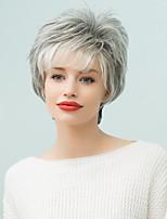 Hair Side Bang Layered Curly Short Human Hair  Ombre Wig