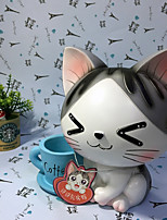 1 PC The New Creative Cartoon Sweet Home Cat Resin Decoration Piggy Bank With Pen  Four Color Mixed Hair